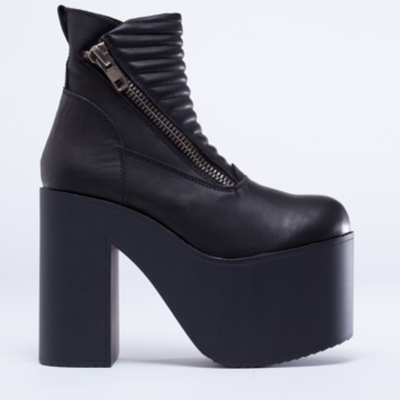 034f8404b94 Unif neo platform boots in black leather