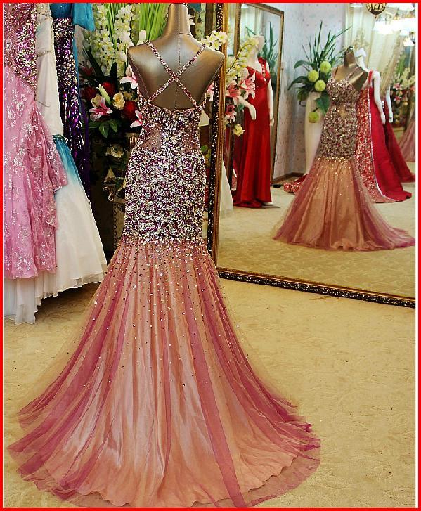 Yz New Arrival Gorgeous Luxurious Swarovski Crystals Bridal Wedding Dress Zxvz On Storenvy