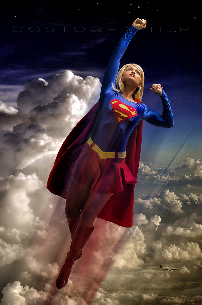 Quot Supergirl In Flight Quot Cosplay By Lauren 8x12 Glossy On