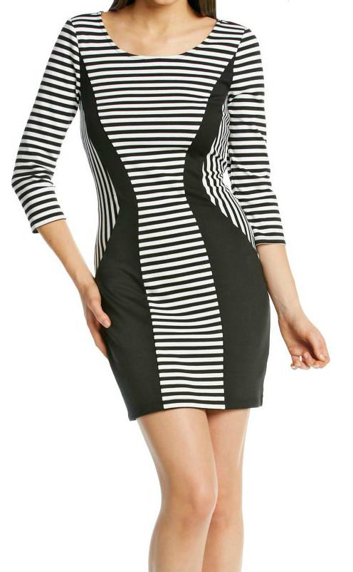 febe61e6364 Black 20white 20striped 20bodycon 20dress original · Bodycondress small
