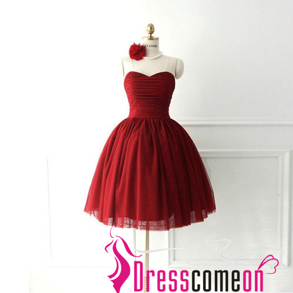 short fitted short red homecoming dresses