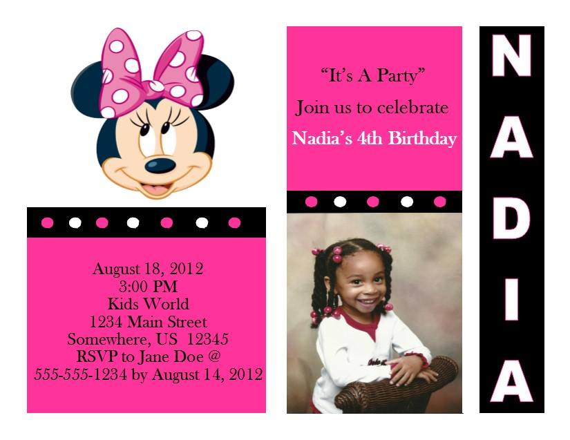 Minnie Mouse Birthday Invitation 10