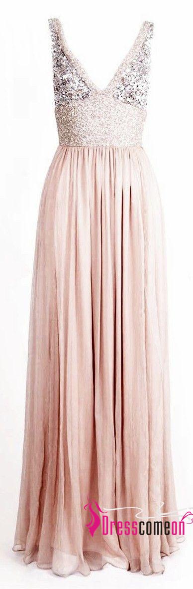 Pale Pink Bridesmaid Dresses 2017 Princess Style Glitter Sequin ...