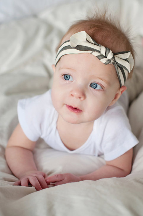 1bdf64e945193 Black and White Stripe Knot Headband in Organic Cotton Knit · Little Nugget  Republic ® · Online Store Powered by Storenvy