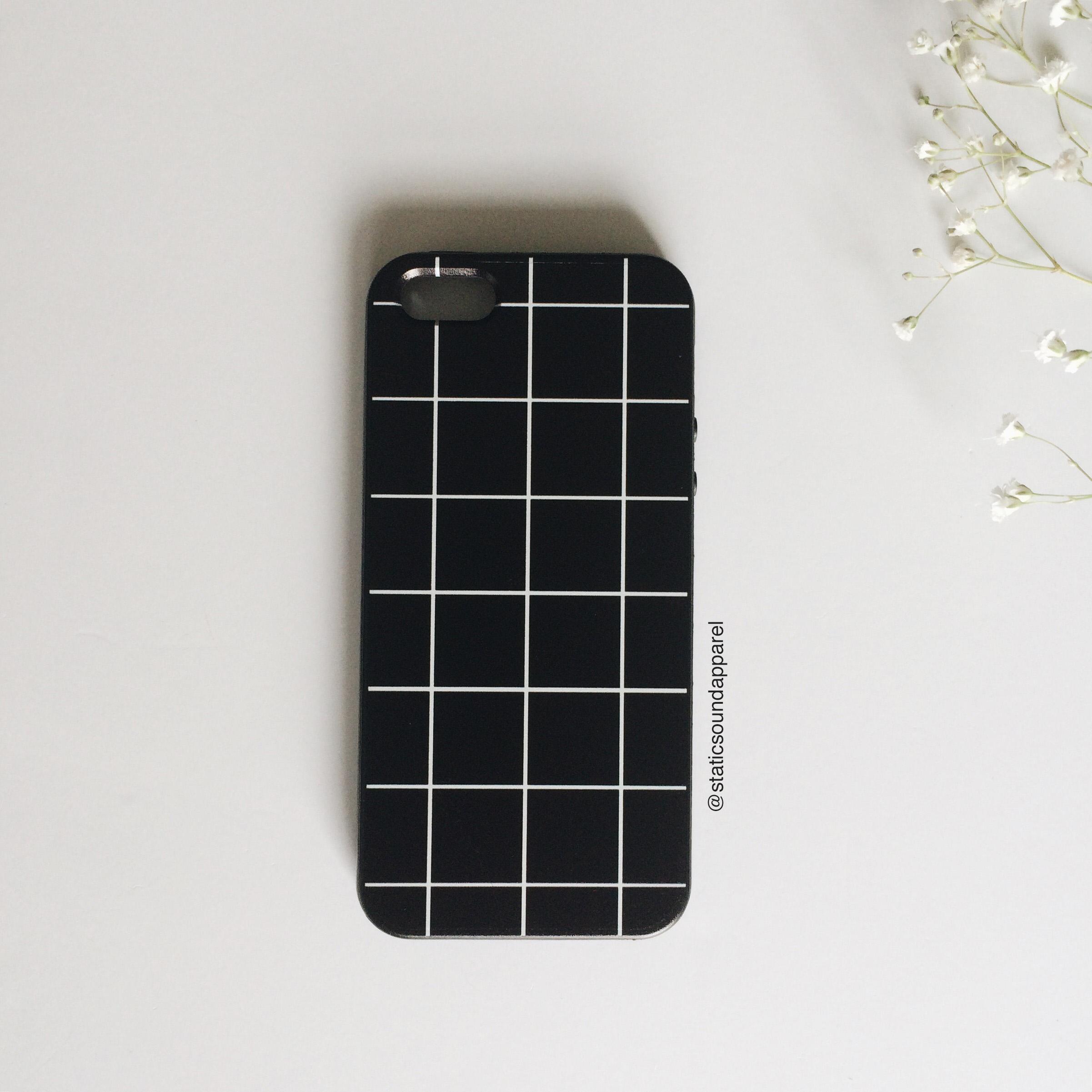 the best attitude 429a6 b8bb7 Black Grid Phone Case