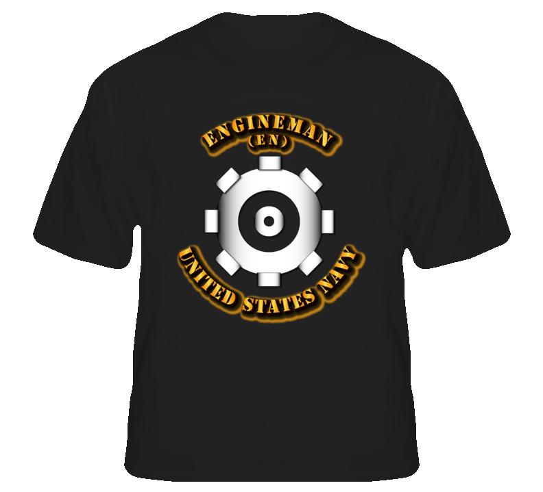 navy rate engineman military insignia t shirt black military