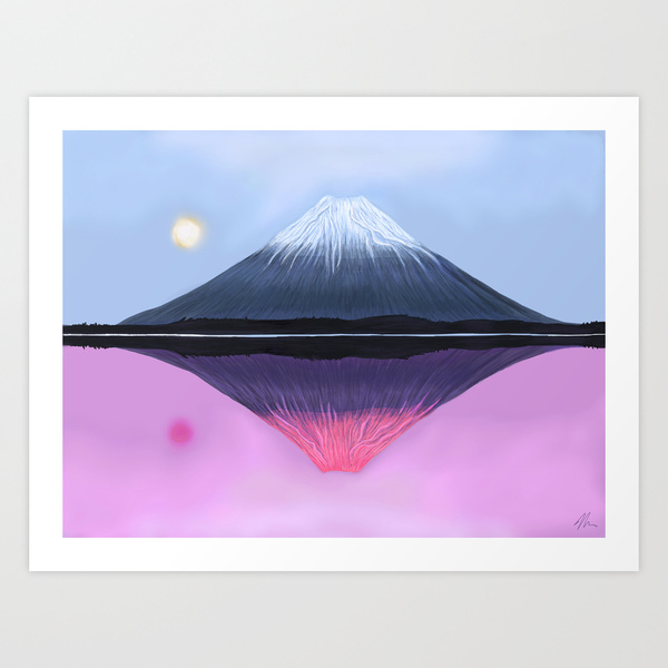 Two Fuji - Art Print from Nicole Cleary's Shop