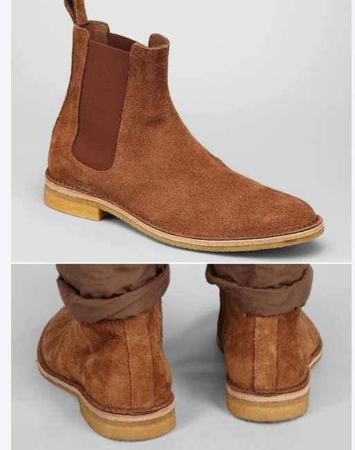 e22c995ac68e Handmade mens brown Chelsea brown suede leather boots, Men suede leather  boot