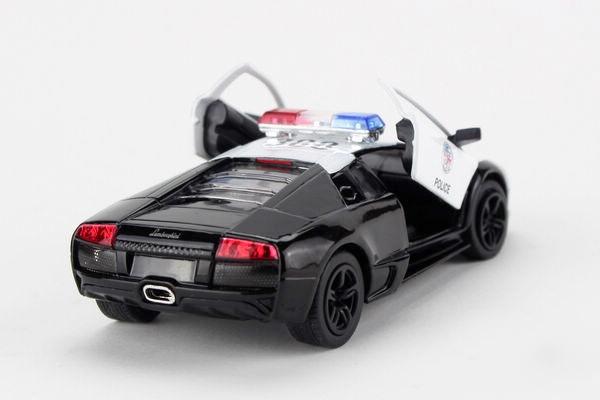 5 Lamborghini Murcielago Lp640 Police Diecast Metal Cars Toys For
