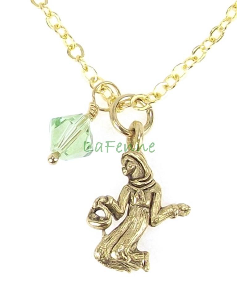 Virgo Zodiac August Peridot Swarovski Birthstone Gold Plated