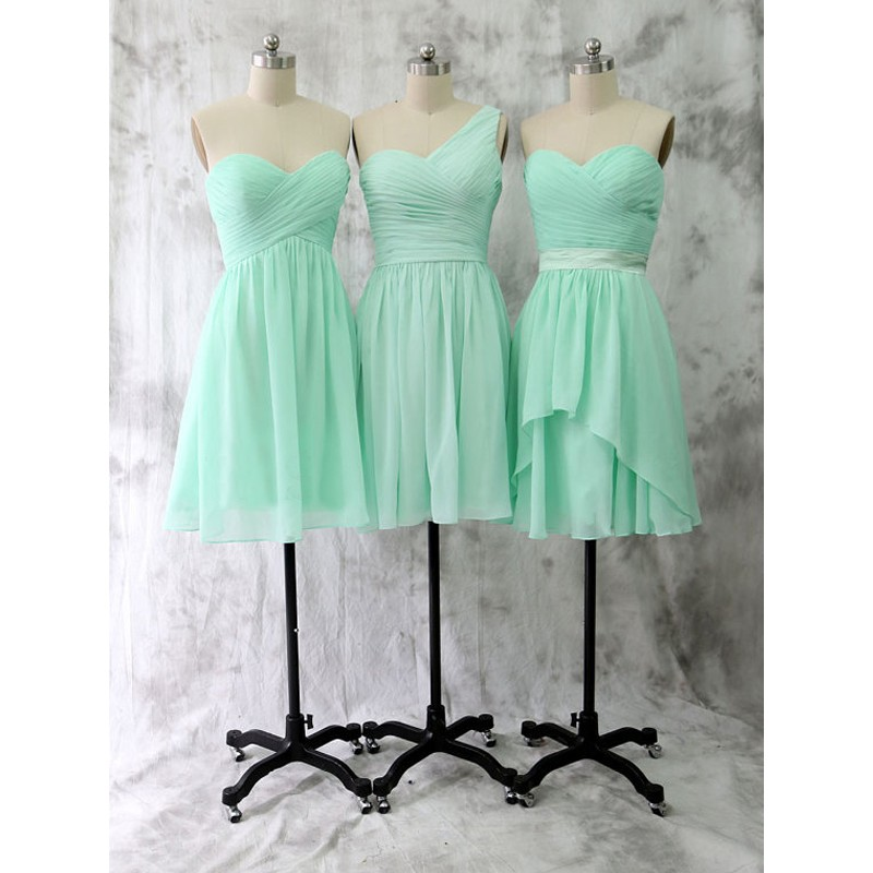 dabf99346a6e2 short bridesmaid dress, mint bridesmaid dress, chiffon bridesmaid dress, cheap  bridesmaid dress,