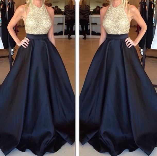 Black Skirt Prom Dress