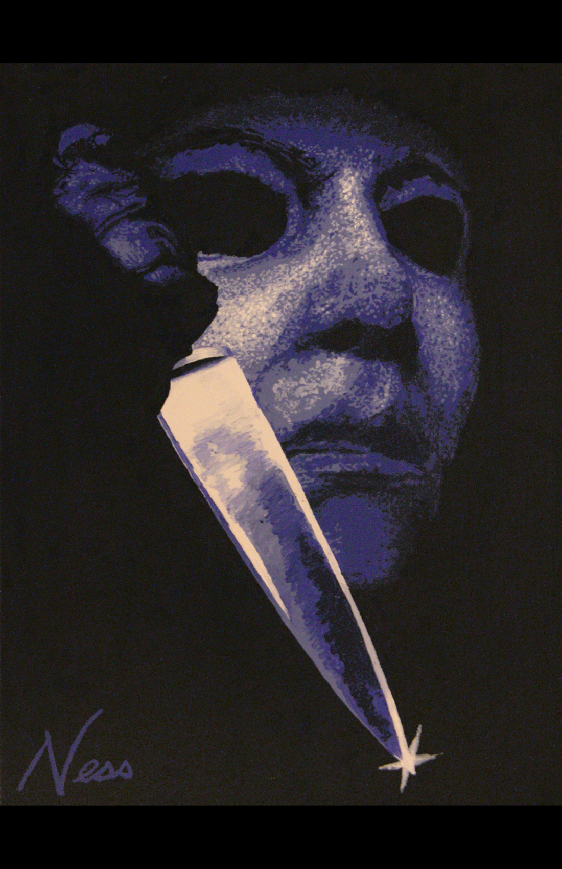 11 X 17 Print Halloween Michael Myers Violet Sold By Cinema Art By Ness On Storenvy