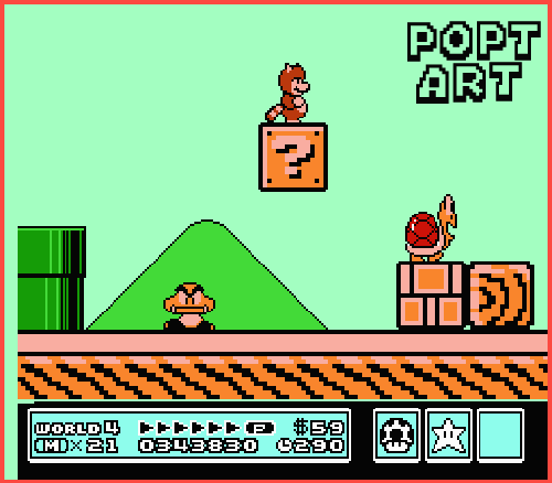 Super Mario Bros 3 Multi Layered 3d Artwork Nes Poptartco Online Store Powered By Storenvy