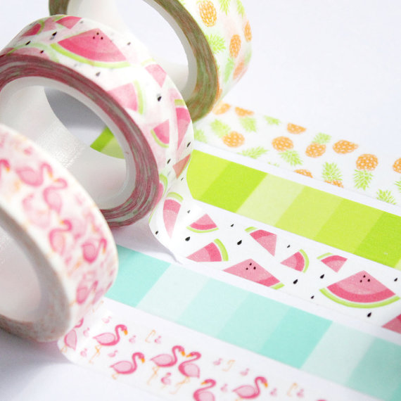 Pink Flamingos Lora Bailora Washi Tape On Storenvy