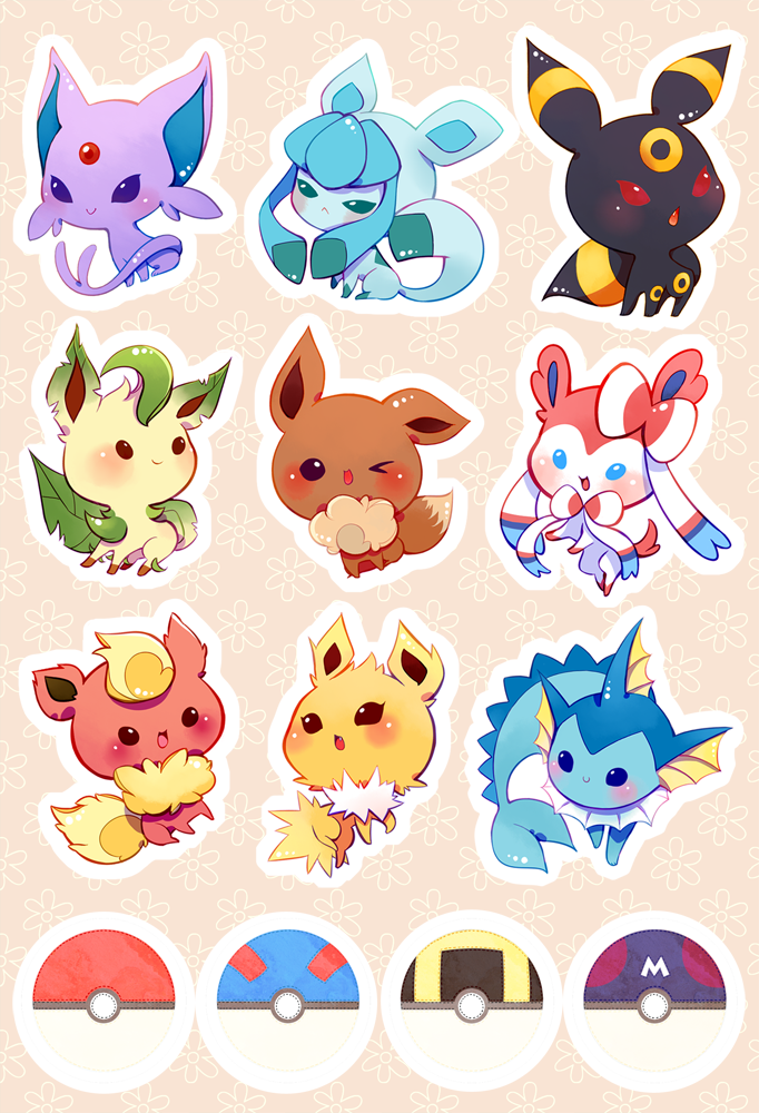 Eevee sticker sheet