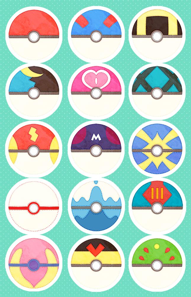 Pokeball Sticker Sheet on Storenvy