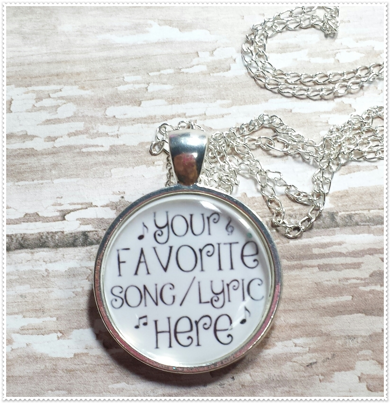 96c57a754c2de Custom / Personalized Music.Lyric.Love.Fangirl Inspired Pendant Necklace  from BlueLambCreations Boutique