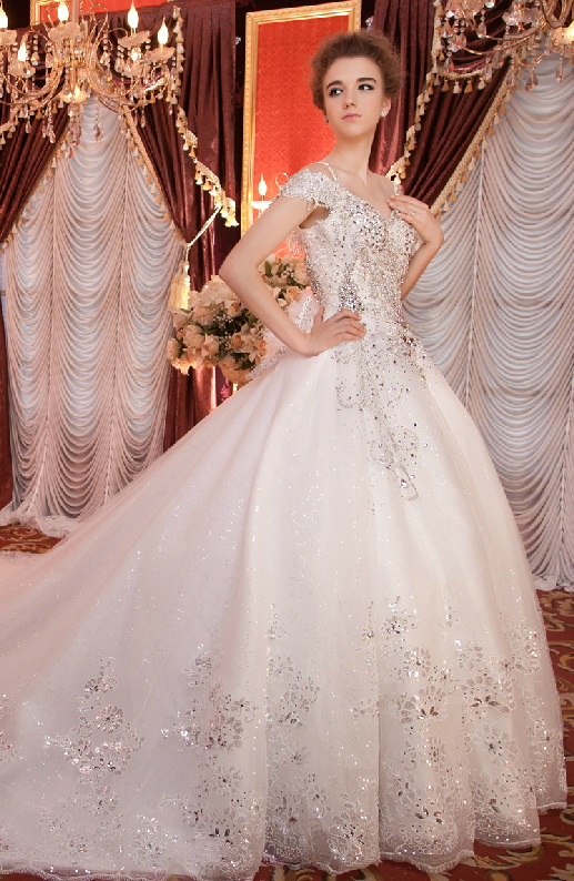 Yz Real Sample Crystal Beaded Beautiful Wedding Dresses On Storenvy