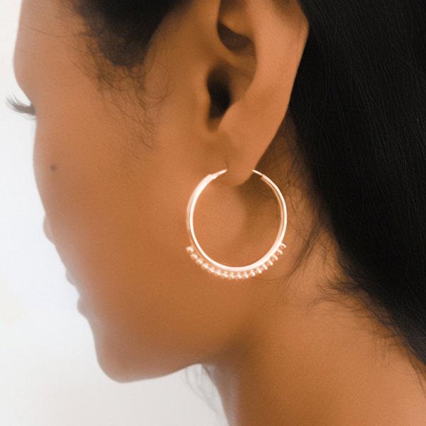44ba6ca16a347 Gold Earrings - Gold Hoops - Ethnic Hoops - Gypsy Hoops - Ethnic Earrings -  Hoops Jewelry - Brass Jewelry - Ethnic Jewelry from Ronibiza Tribal ...