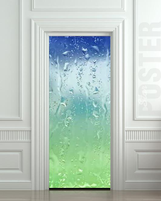 Wall Door Sticker Drops Rain Window Dew Mural Decole Film