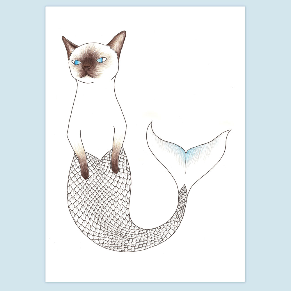 Siamese Purrmaid by Cate Anevski