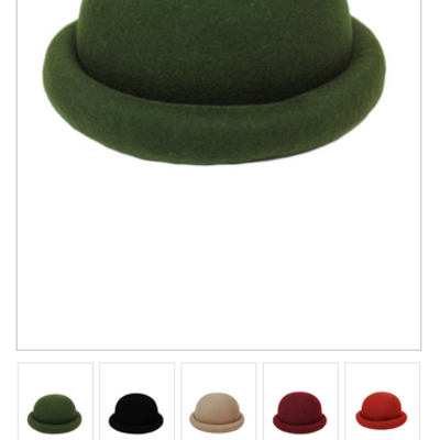 db841990ed3 KIDS ROLLED BRIM BOWLER HAT (JUNIORS KIDS) · Liz Boutique · Online Store  Powered by Storenvy