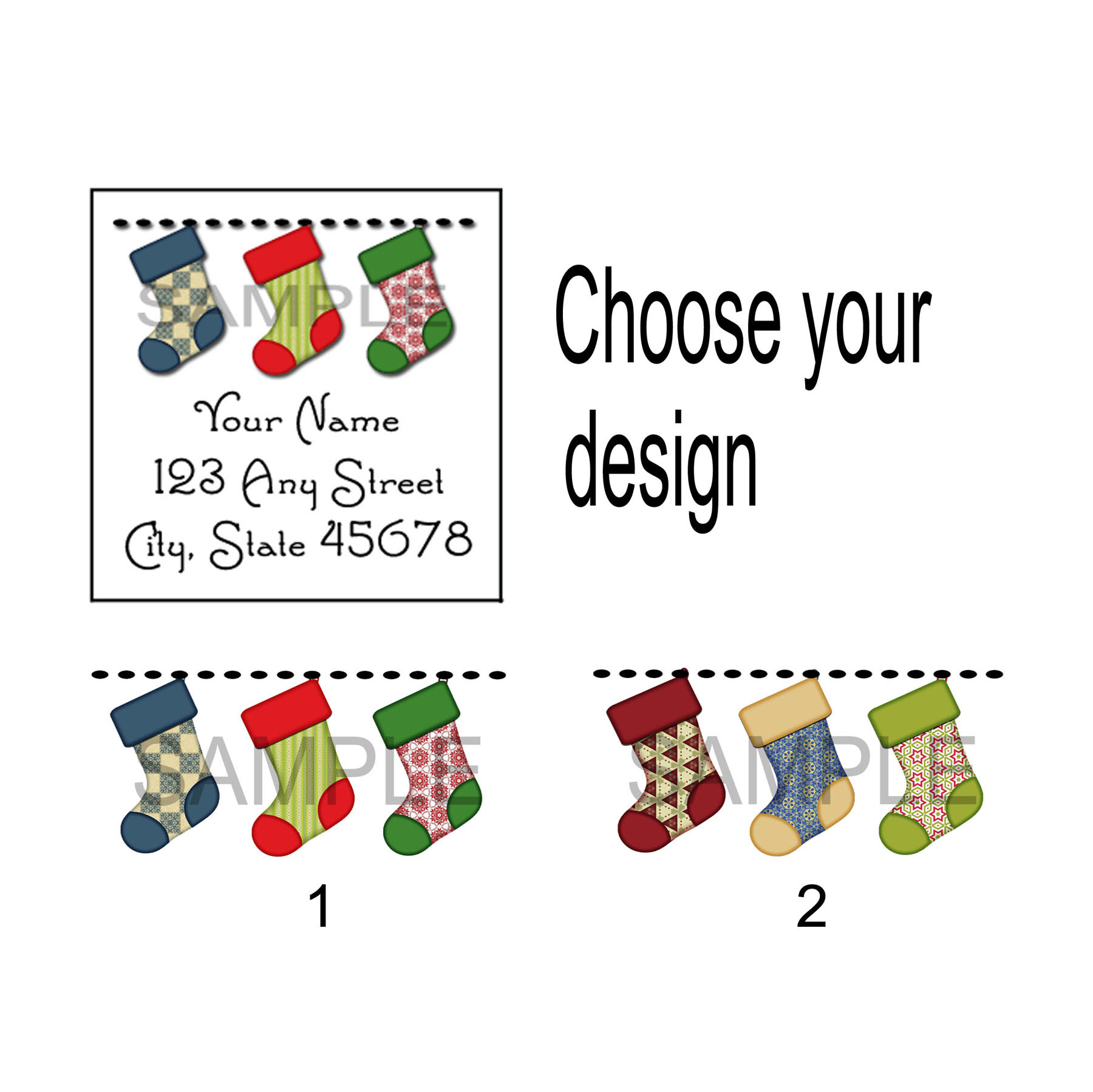 personalized return address label stickers christmas address label