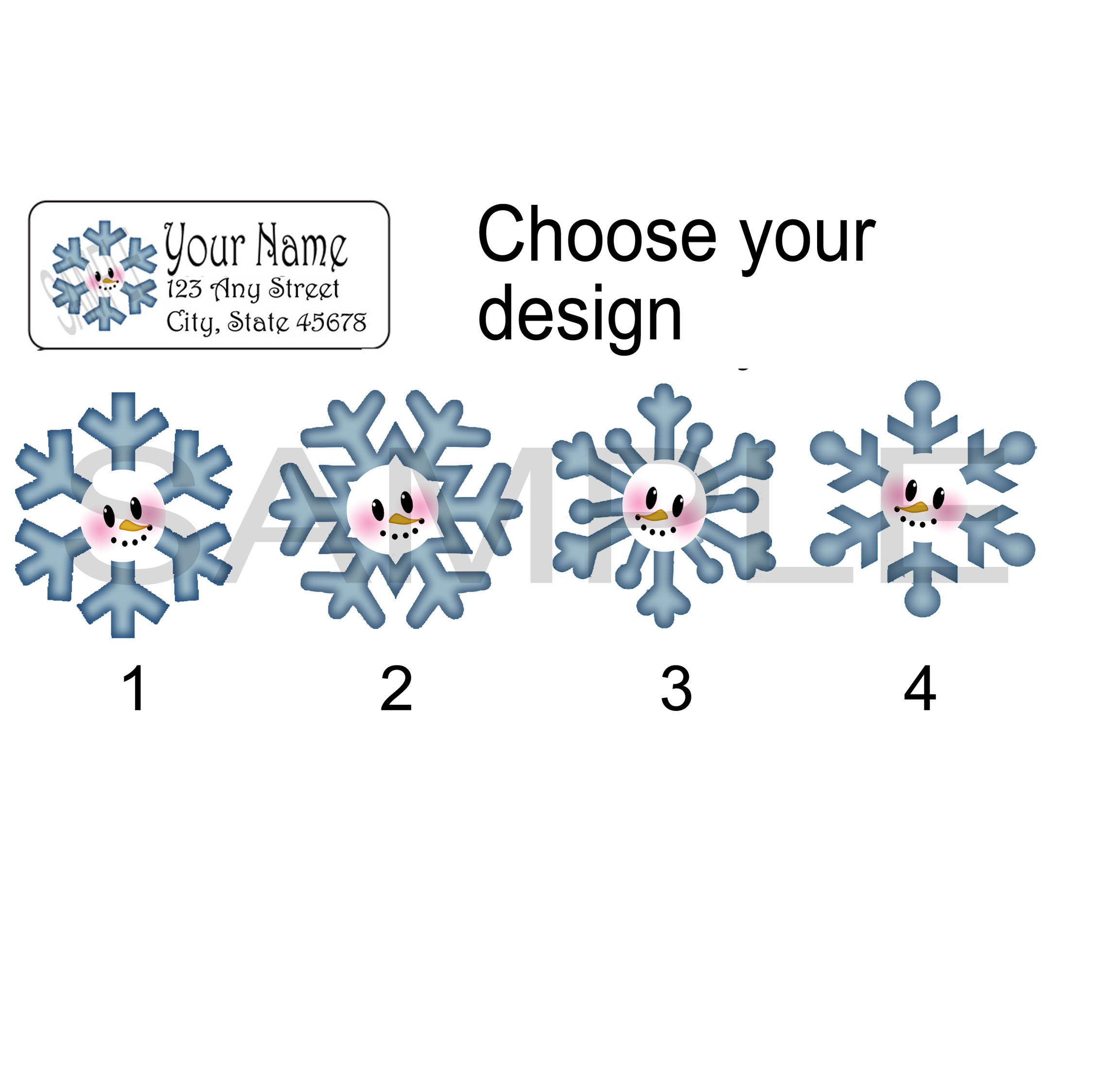 Christmas Address Labels.Snowflake Stickers Christmas Address Label Personalized Return Address Label Stickers Address Labels Snowman Tags From Paper Ornamentals