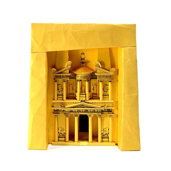 Petra Treasury Paper Model Craft Kit from Paperlandmarks