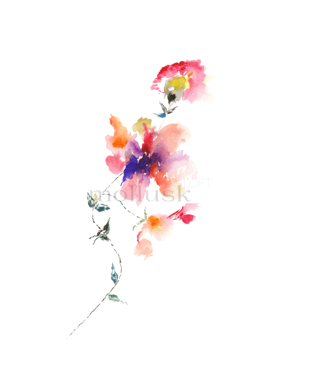 Watercolor Floral Bouquet Sold By Molluskloft On Storenvy