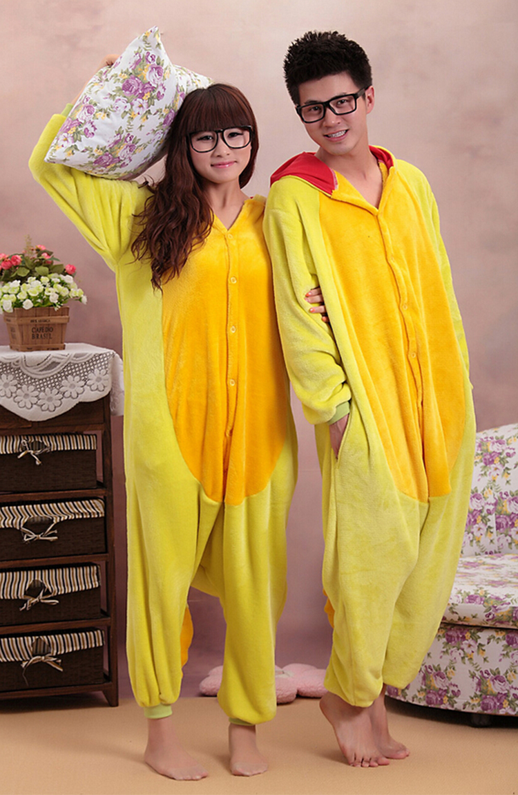 6621055a56fc New Yellow Dragon Adult Animal Winter Kigurumi Fleece Onesie KK864 ...