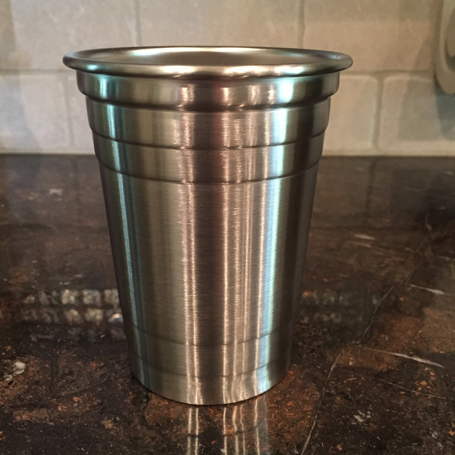custom etched stainless steel solo cup on storenvy