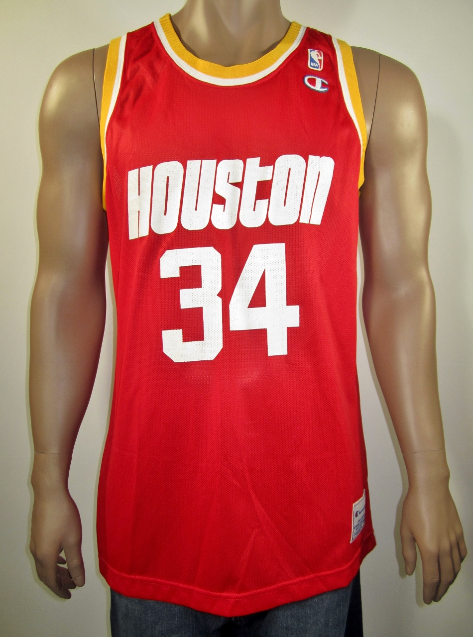 size 40 17461 ed59d Hakeem Olajuwon Houston Rockets Champion Jersey XL NWT European Issue from  DFRNSH8