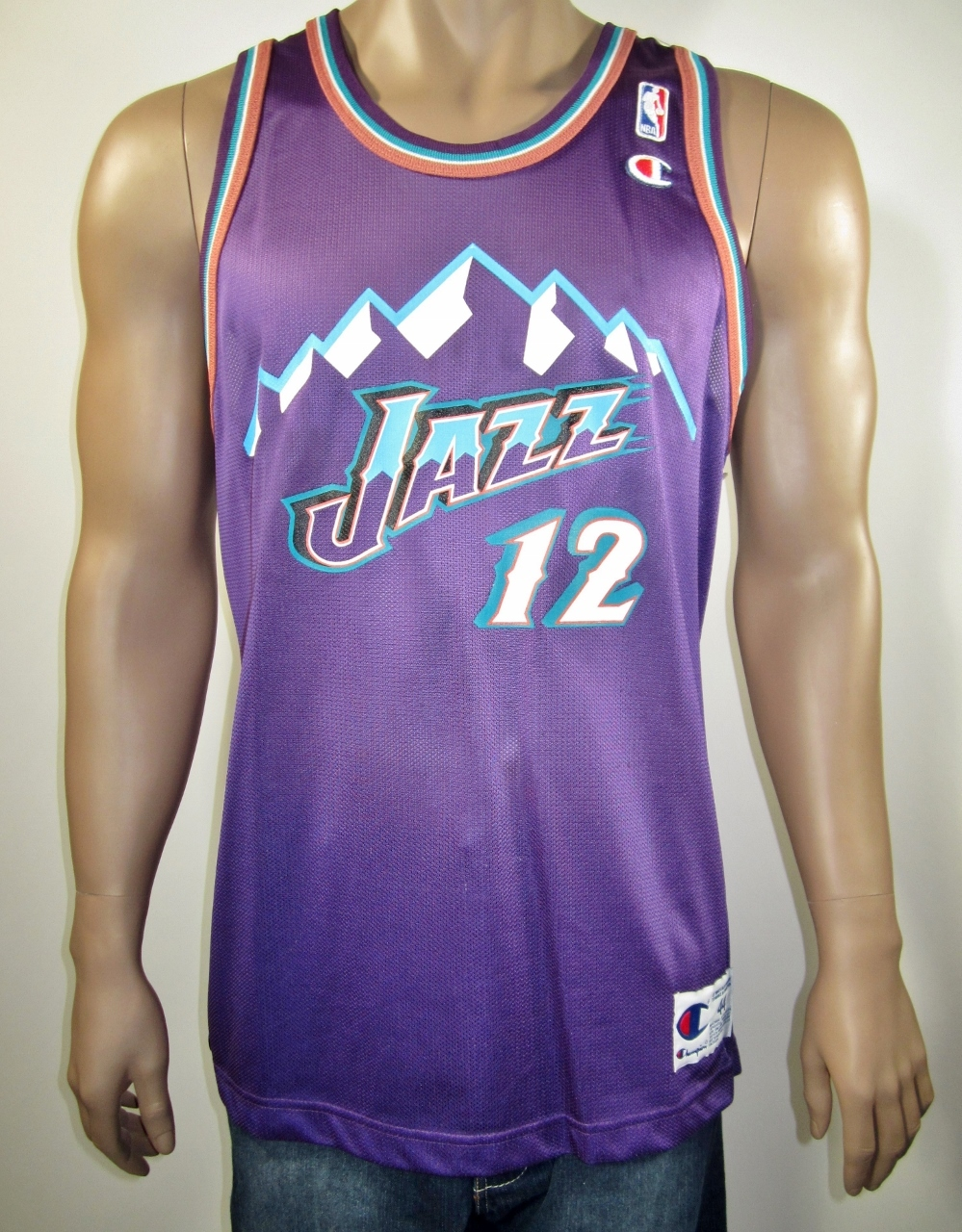 sports shoes 12062 8c0ee John Stockton Utah Jazz Champion Jersey 44 NWT from DFRNSH8