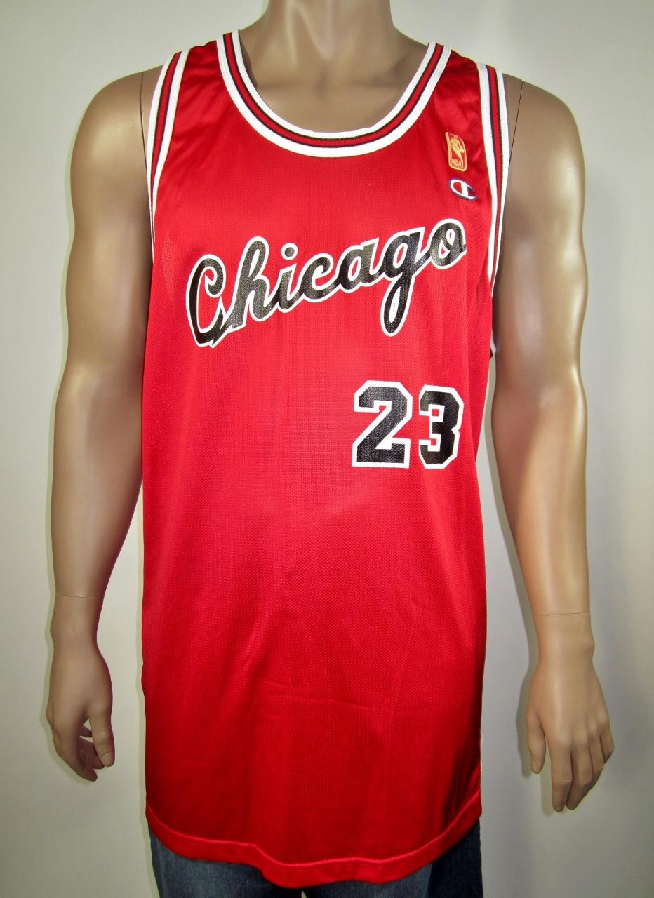d3b6fd6a294 Michael Jordan Chicago Bulls NBA 50 Gold Logo Rookie Champion Jersey 52 NWT