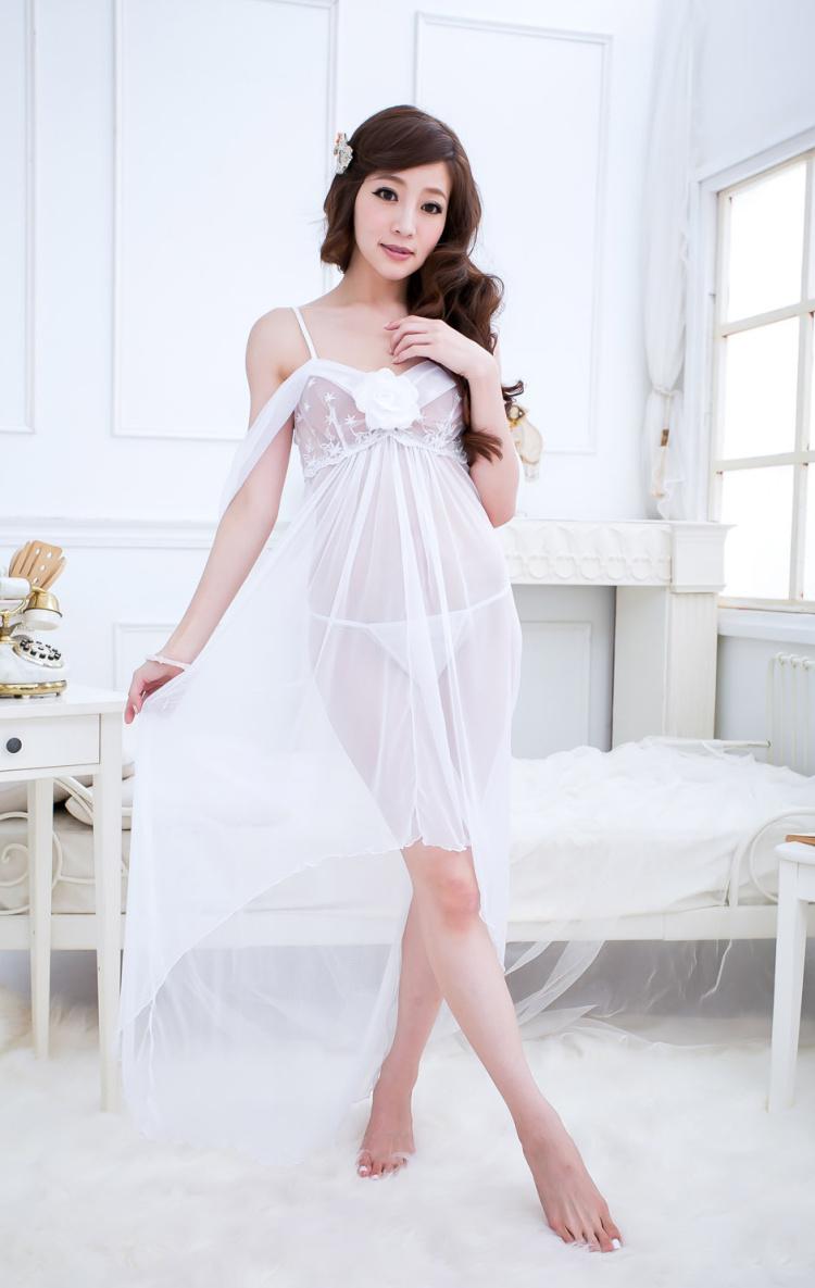 5020c3e52 ... Hot Selling Sexy Women s Lingerie sleepwear Ladies Long Dress See-Through  Thong Underwear Wedding Gift+ ...