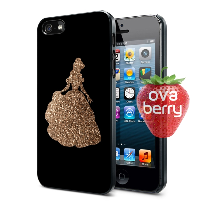 finest selection c40b3 3372f Princess Beauty and the Beast Glitter iPhone 6S Plus 6 5S 5C Samsung Galaxy  S6 Edge S5 Note 5 4 Case from ovaberry