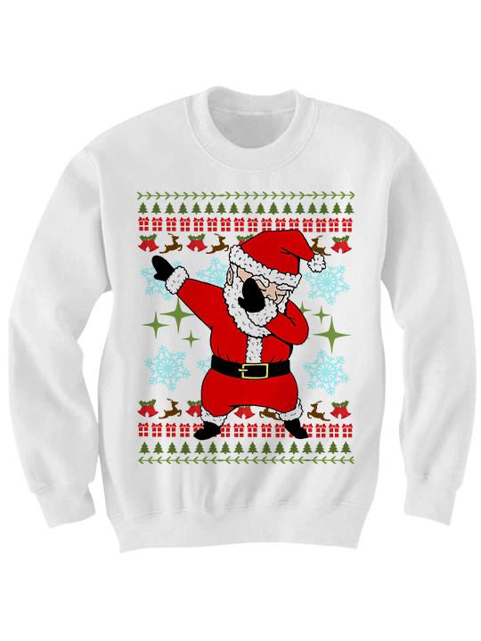 UGLY CHRISTMAS SWEATER DABBIN' SANTA SWEATER FUNNY CHRISTMAS ...