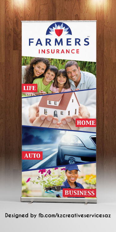 Farmers Insurance Retractable Banner 183 Kz Creative