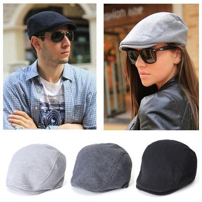 cbe78740e24 Men Women Beret Cabbie Newsboy Flat Hat Golf Driving Sun Cap ...