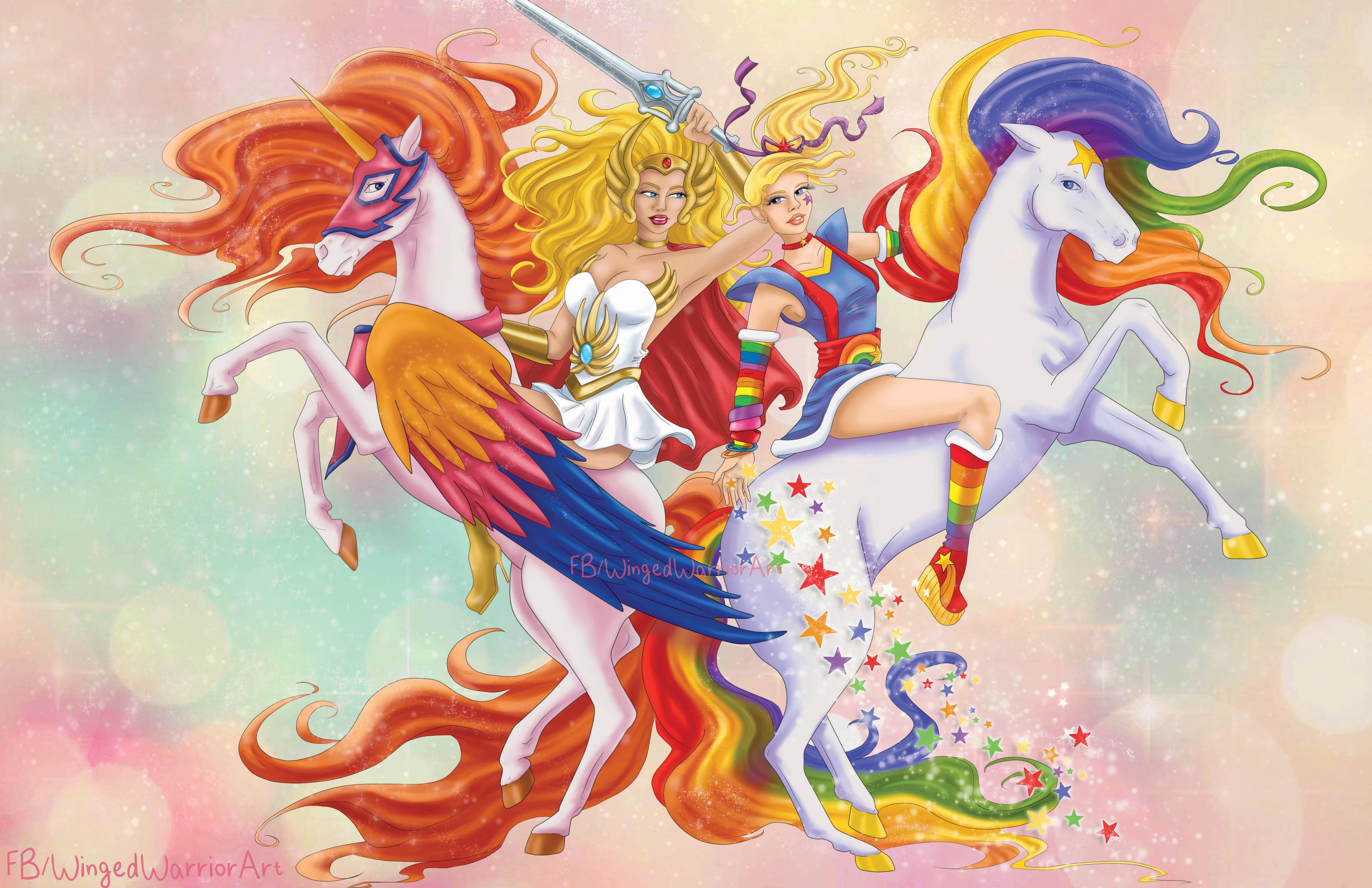 She-ra and Rainbow Brite 11x17 print on Storenvy