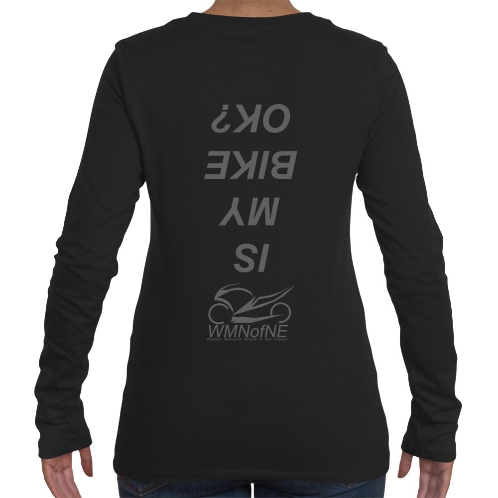 edab68cfa Is My Bike OK? - Women's Long Sleeve Crew Neck - Gray Print on Storenvy