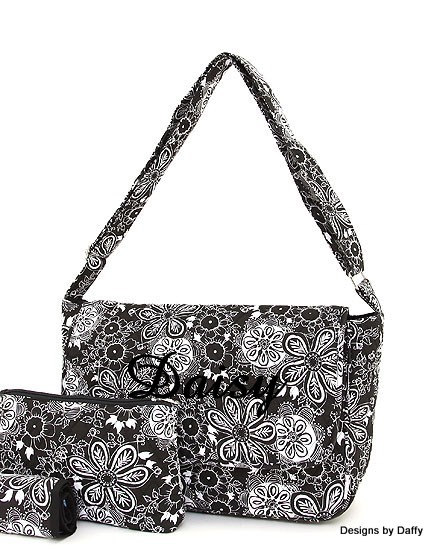 Quilted Personalized Diaper Bag From Designs By Daffy
