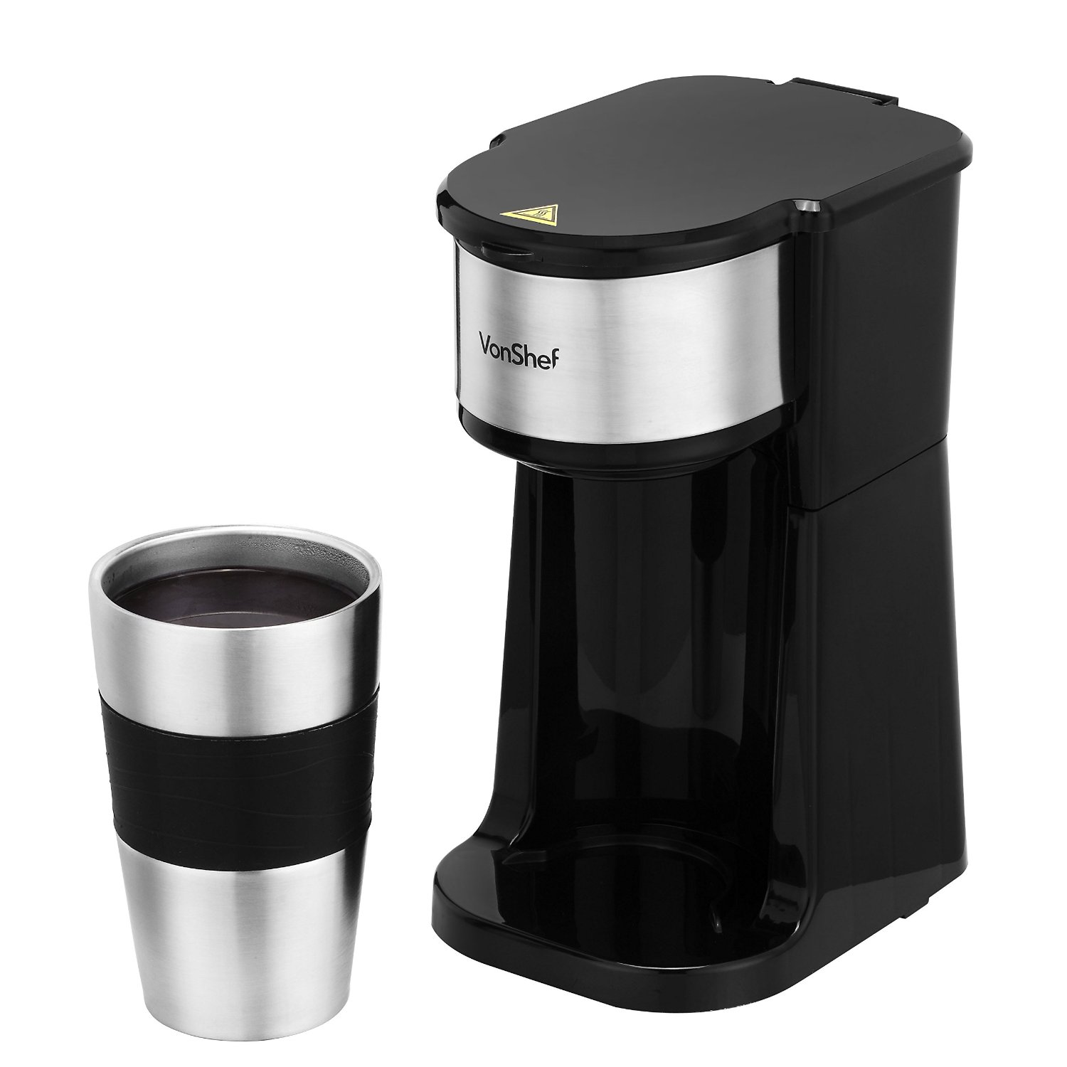 New Vonshef Single Serve Personal Filter Coffee Machine With 14oz