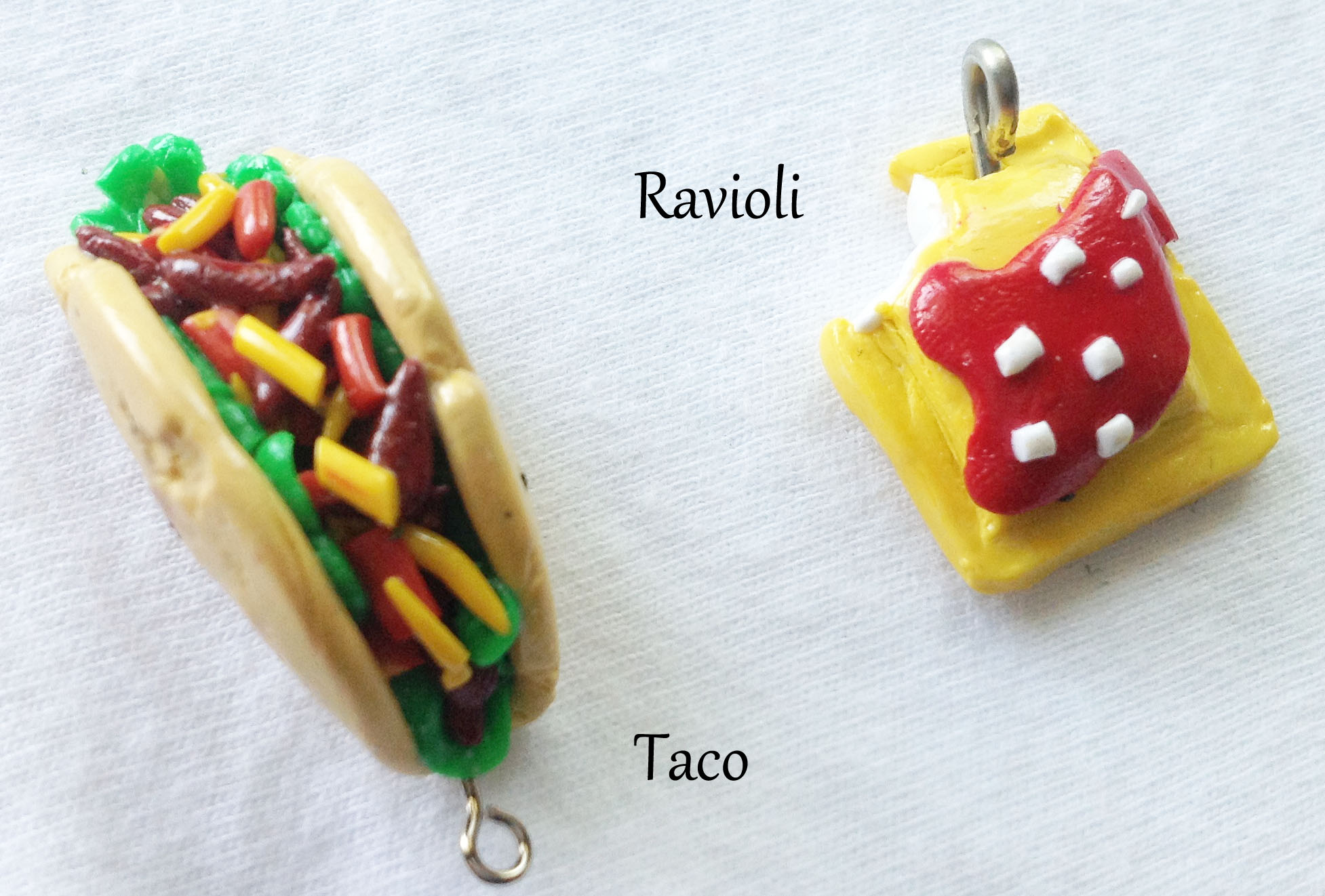 Polymer clay food charms on storenvy for Polymere cuisine