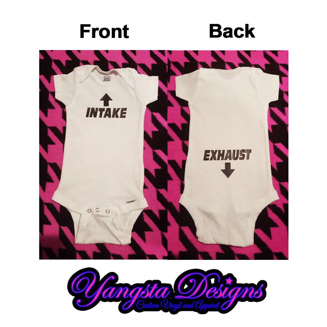 1a1a23b35 Baby: Intake and Exhaust Onesie on Storenvy