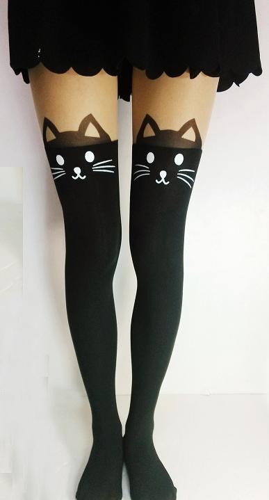Noirlu Cat Tails Thigh High Tights Online Store