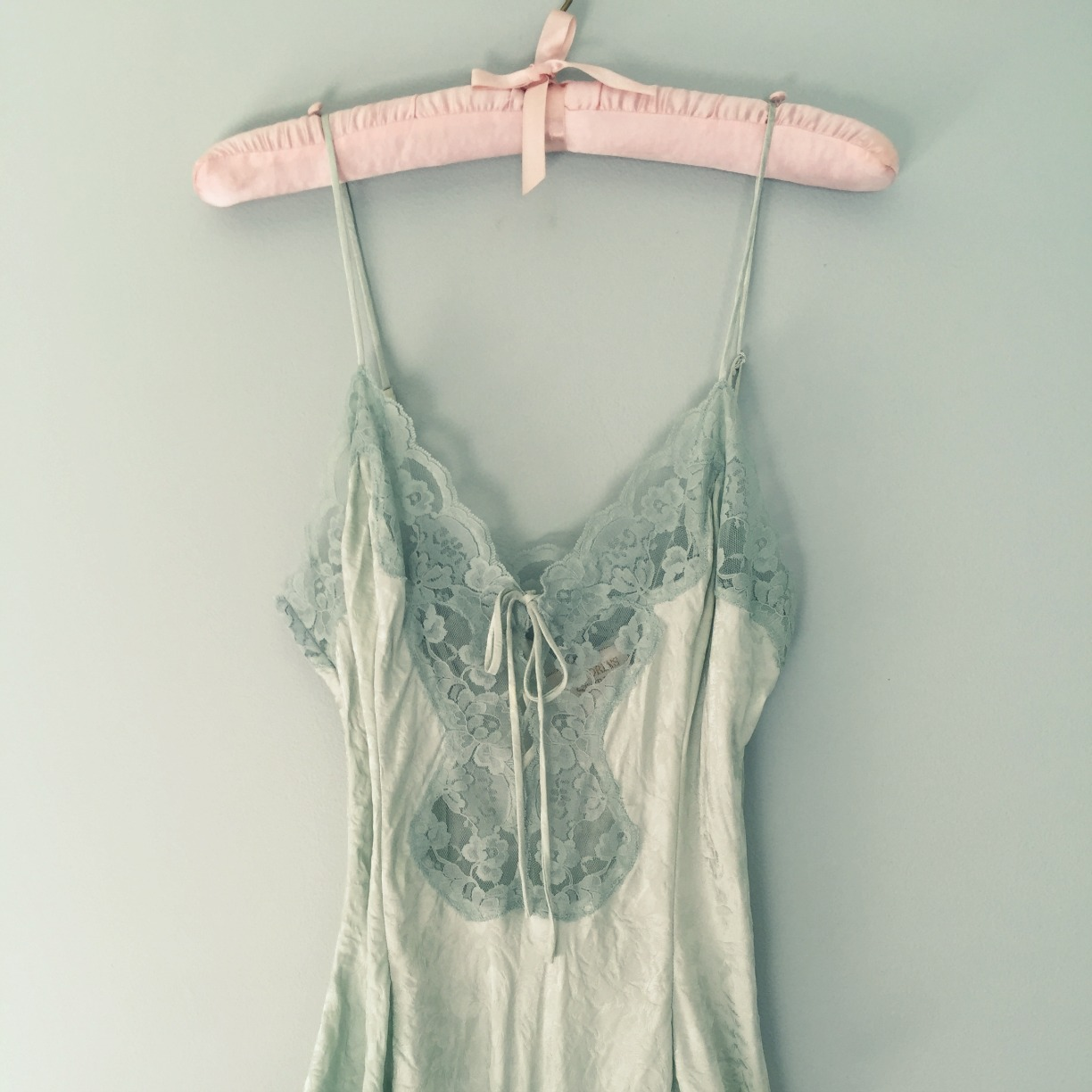 1291699e72 Vintage Small Mint Tea Silk Teddy Onesie - Victoria s Secret
