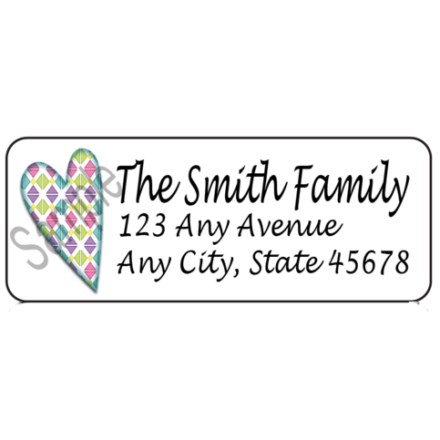 Return Address Label Sticker, Personalized Return Address Label, Mailing  Label, Custom Label, Gift Tag, Custom Gift Tags, Heart Sticker sold by  Paper